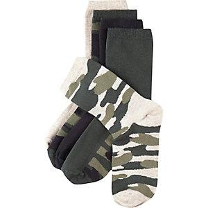 Boys khaki socks pack
