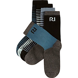 Boys blue socks pack