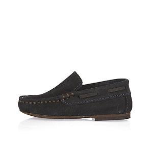 Mini boys navy loafers