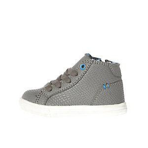 Mini boys grey high top sneakers