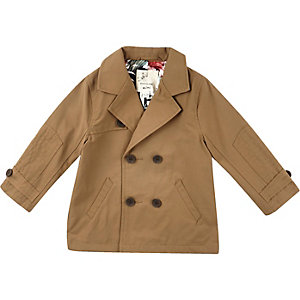 Mini boys tan smart mac coat