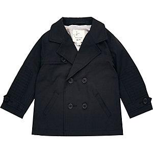 Mini boys navy mac coat