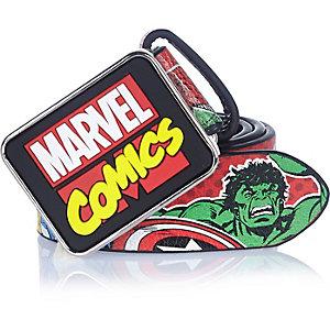 Boys red Marvel Comics cartoon belt