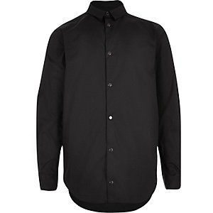 Boys black popper shirt