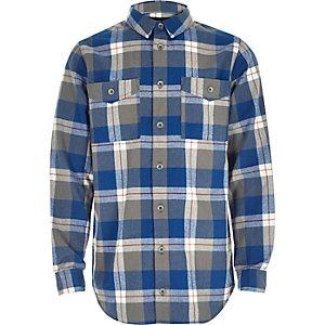 Boys blue check shirt