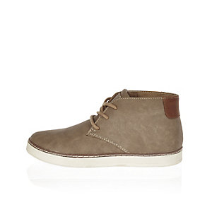 Boys brown desert boots