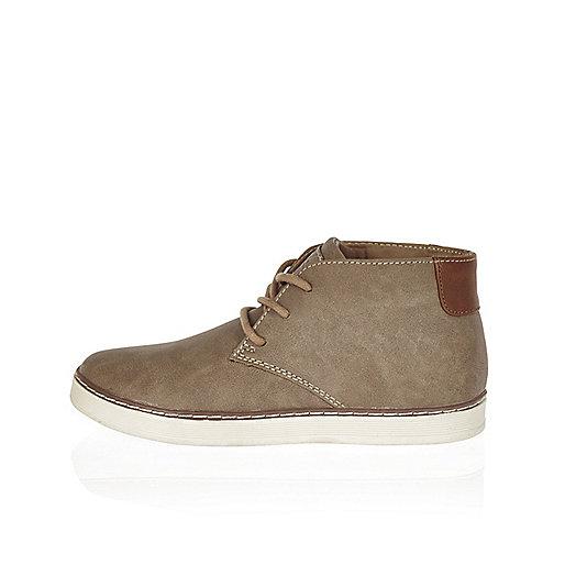 Boys brown desert boots