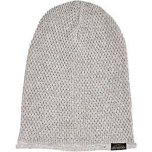 Boys grey knitted beanie hat