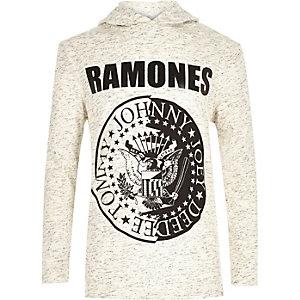 Boys cream Ramones band hoodie