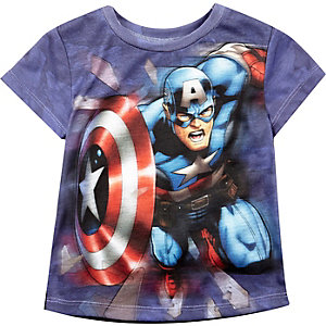 Mini boys blue Avengers print t-shirt