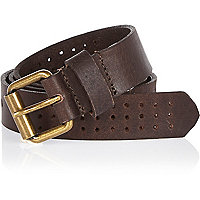 Boys brown punched hole belt