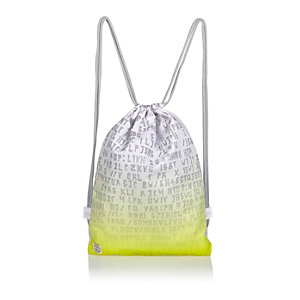 Boys bright yellow faded drawstring bag