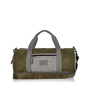Boys khaki sports holdall bag