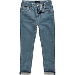 Boys mid wash blue Sid skinny jeans
