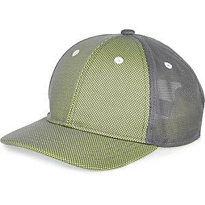 Boys grey green mesh cap