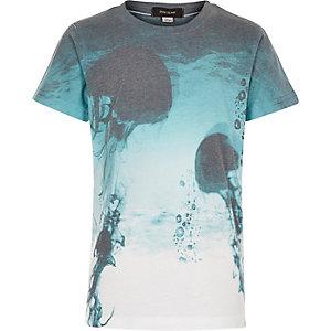 Boys blue jellyfish print t-shirt