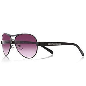 Boys black aviator-style sunglasses