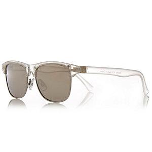 Boys clear aviator-style sunglasses