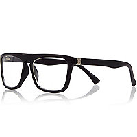 Boys black clear lens glasses