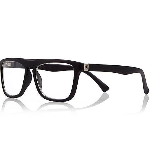 Boys black clear lens glasses