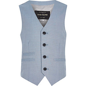 Boys blue suit vest