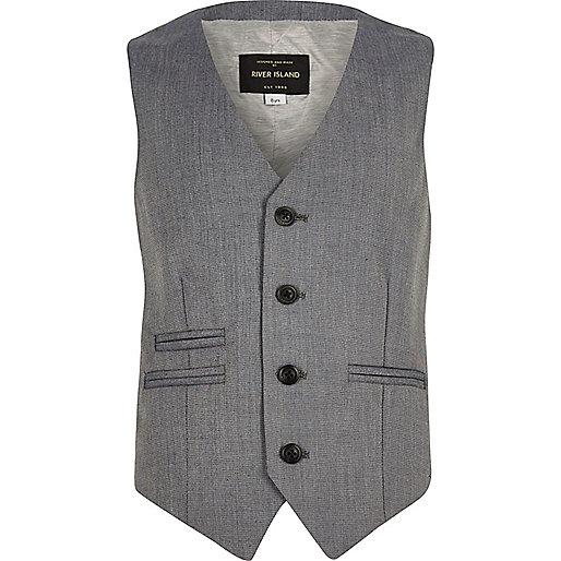 Boys light grey waistcoat