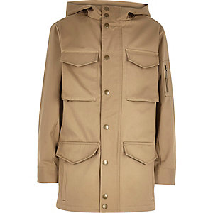 Boys tan minimal coat