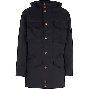 Boys navy minimal coat