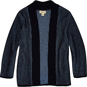 Mini boys blue shawl cardigan