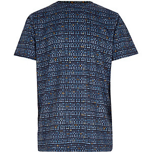Boys blue printed t-shirt