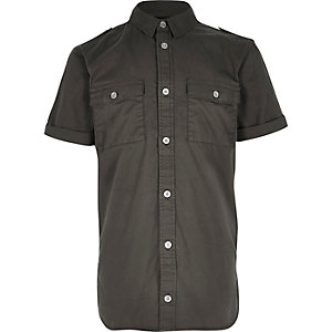 Boys khaki military shirt