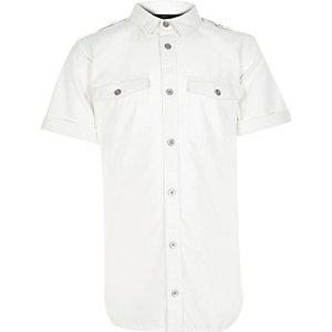 Boys white military shirt