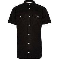 Boys black military shirt