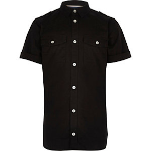 Boys black military shirt