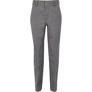 Boys light grey suit trousers