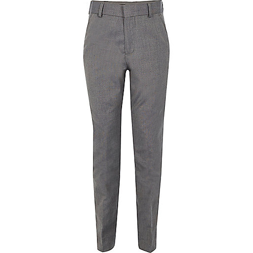 Boys light grey suit trousers