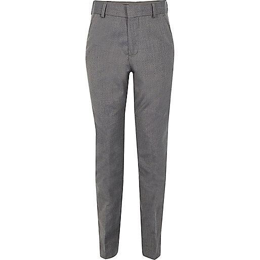 Pantalon de costume gris clair pour garçon