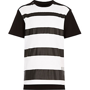 Boys black and white stripe t-shirt