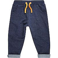 Pantalon de survêtement en jean bleu mini garçon
