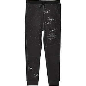 Boys black Star Wars print joggers