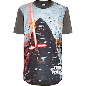 Boys grey Star Wars Kylo Ren print t-shirt