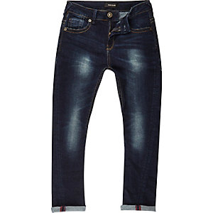 Boys dark wash Chester skinny tapered jeans