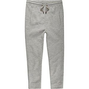 Boys grey panelled joggers