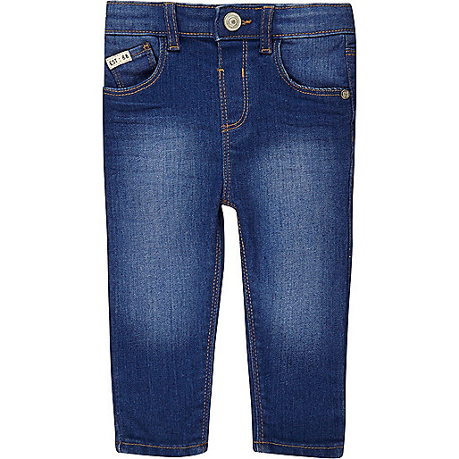 Mini boys bright blue Sid skinny jeans