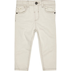 Mini boys cream skinny jeans