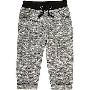 Mini boys black cosy joggers