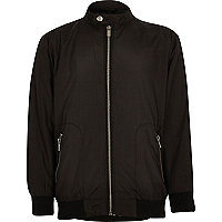 Boys black lightweight zip-up jacket