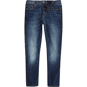Boys mid wash Sid skinny jeans