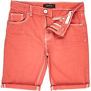 Boys red turn-up shorts
