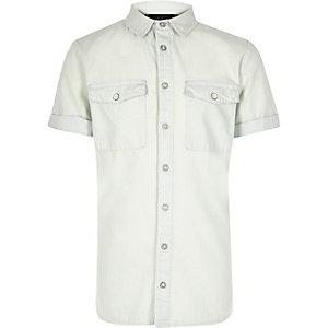 Boys light wash denim shirt